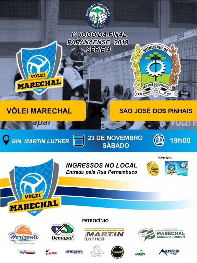 Vôlei Marechal e São José dos Pinhais disputam o título 2019 - Aquiagora.net