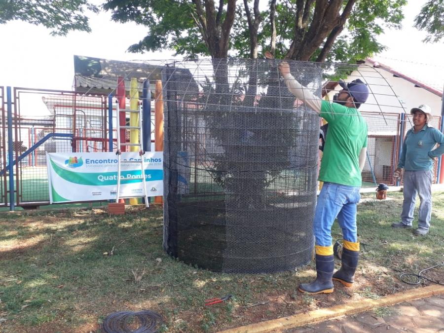 Primeira cisterna de Quatro Pontes é implantada na Escola Dona Leopoldina - Aquiagora.net
